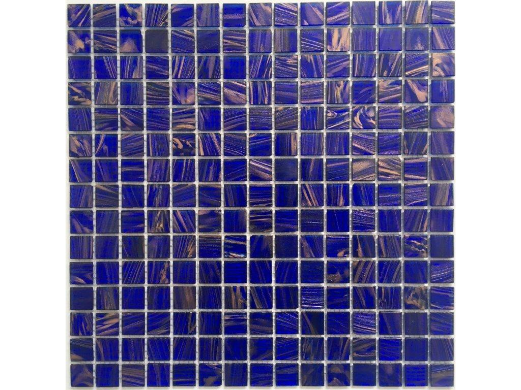 Skleněná mozaika modrá žíhaná