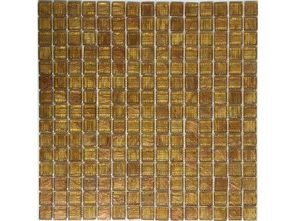 Skleněná mozaika hnědá medová