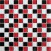 Skleněná mozaika mix černo-červená