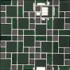 Mozaika sklo-kámen zelená MKS481