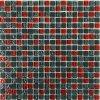 Skleněná mozaika červeno-šedá