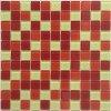 Skleněná mozaika mix červeno-bílá