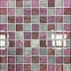 Skleněná mozaika růžová malovaná