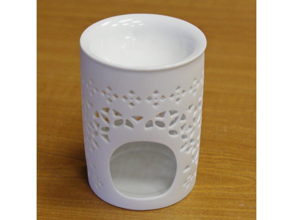 HY090 aromalampa keramika bila A10000010739