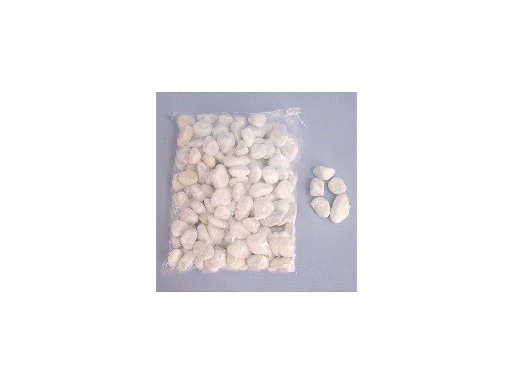 kaminky 2 4cm 4kg pvc bag prirodni bile