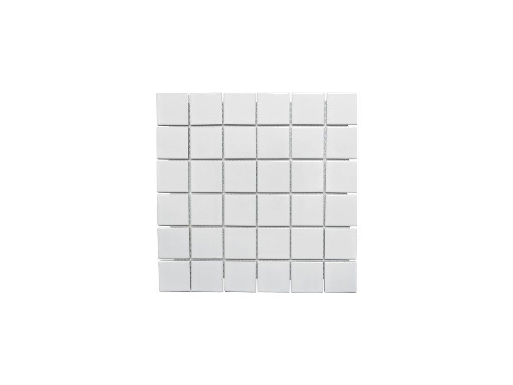 White glossy 48x48 300x300 mm
