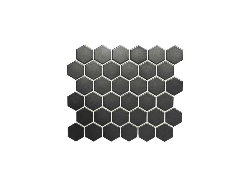Hexagon černý mat