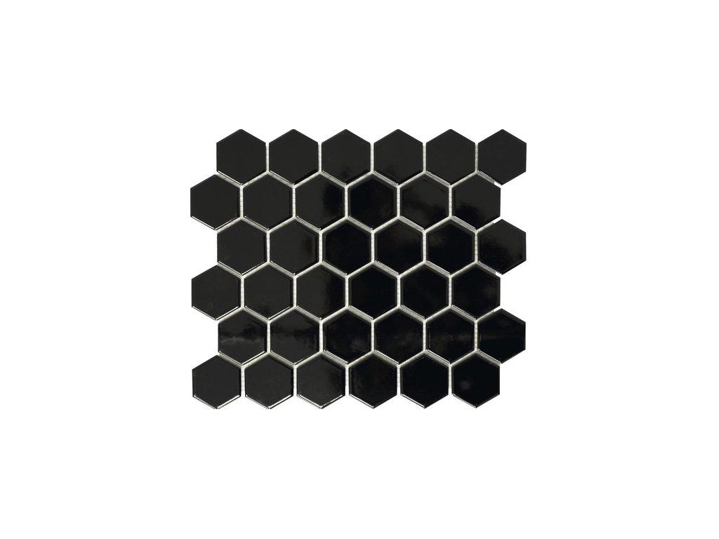 Hexagon BLACK mat 51x59 280x325 mm