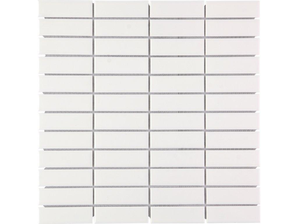 White glossy 23x73 300x300 mm