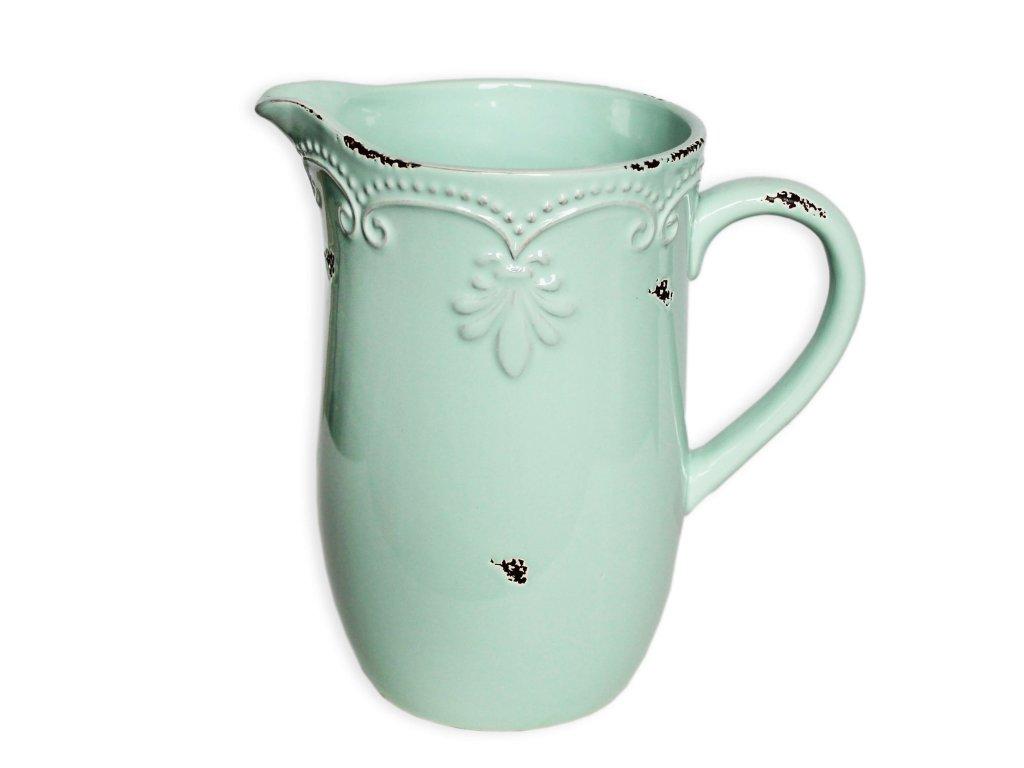 dzban keramika 19 5cm mint