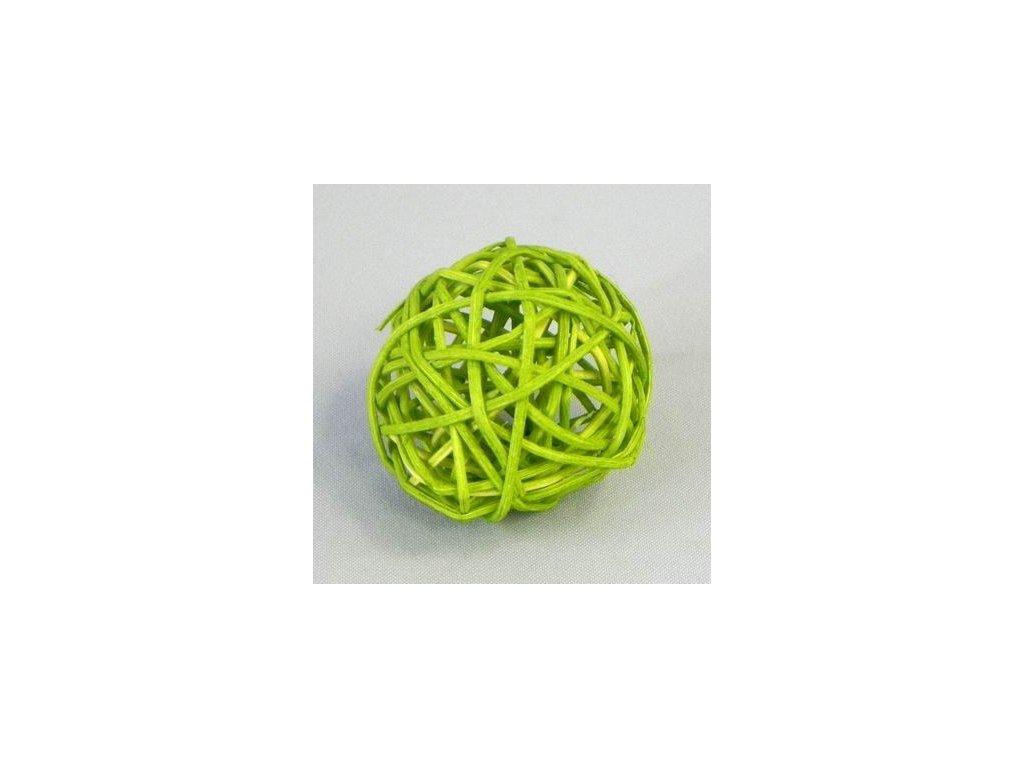F42 27883 367C 10CM koule aranz ratan 10cm jarni zelen
