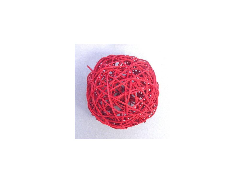 F42 27883 186C 10CM koule aranz ratan 10cm cervena