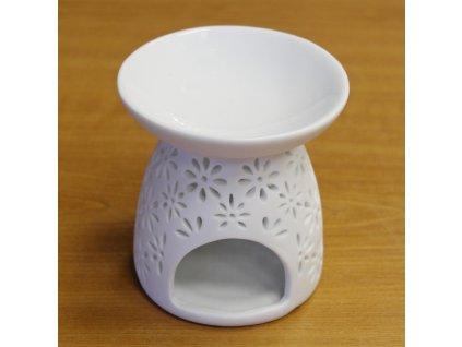 HY052 aromalampa keramika bila A10000010742