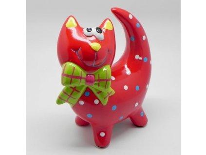 kocka pokladnicka keramika cervena