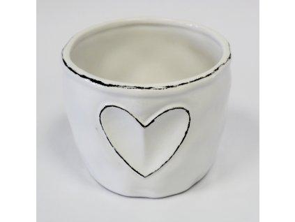 Obal keramika pr.10,5 V 8,5 cm bílá