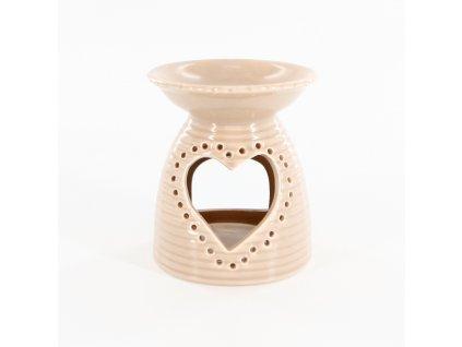 aromalampa porcelan 12 7cm latte