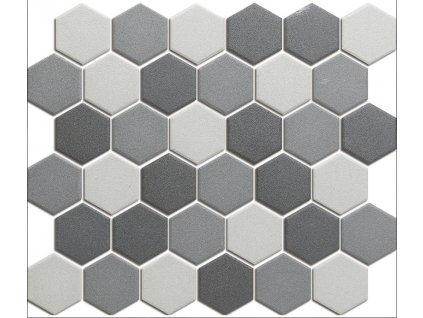 Hexagon grey mix mat 51x59 280x325 mm