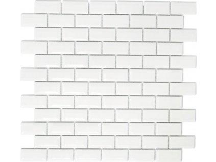 White glossy 23x48 mm opraveno
