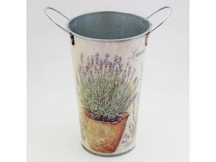 vaza plech y6 5cm levandule