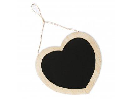 srdce tabule zavesna drevo 29x27cm natural