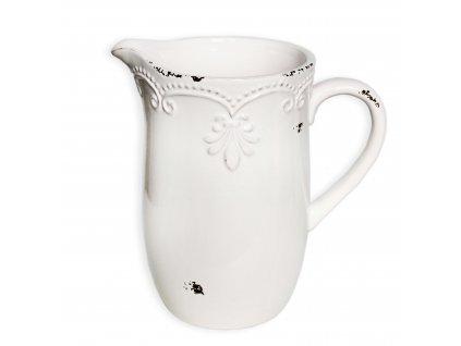 dzban keramika 19 5cm bila