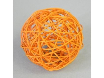 F42 27883 1575C 10CM koule aranz ratan 10cm jarni oranz