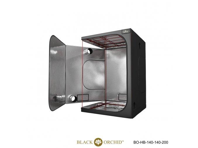 Black Orchid - Hydro-box 140x140x200cm Tent