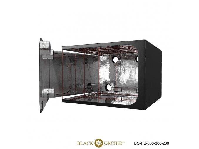 Black Orchid - Hydro-box 300x300x200cm Tent