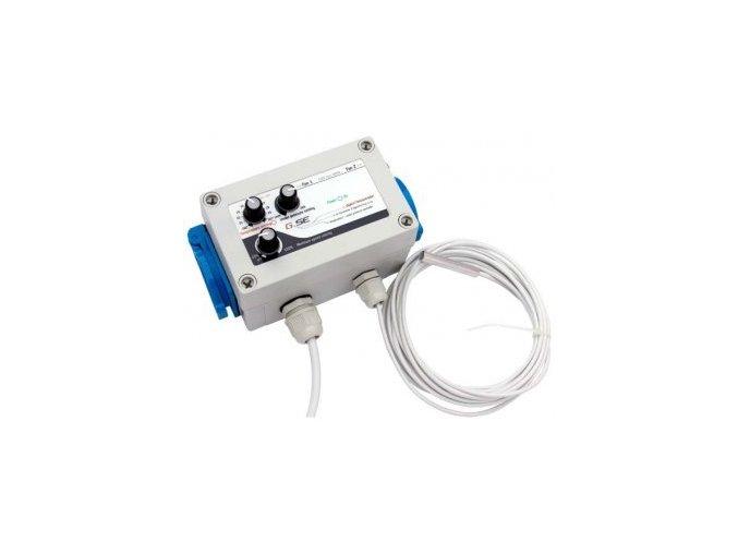 GSE - Digitální regulátor teploty, podtlaku a min. rychlosti ventilátorů 2x1A