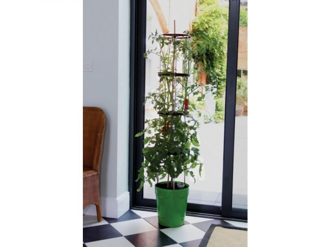 Garland - Grow Tower samozavlažovací květináč zelený