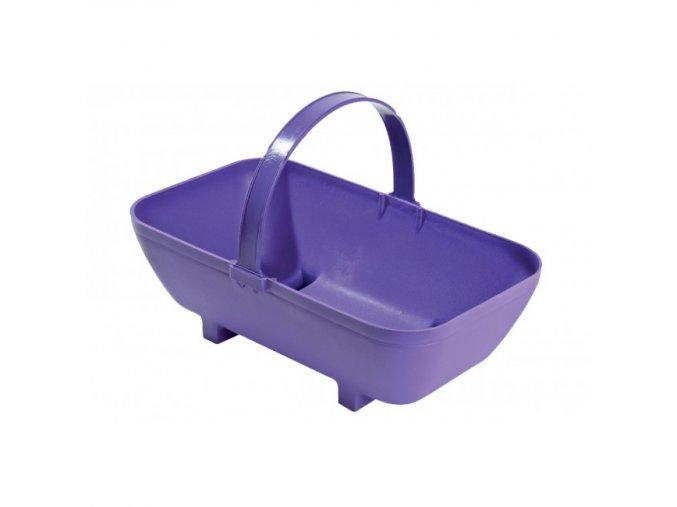 Garland - květináč koš malý fialový