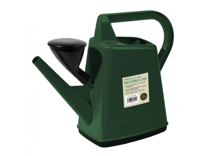 Plastová konev 5l Garland Design zelená