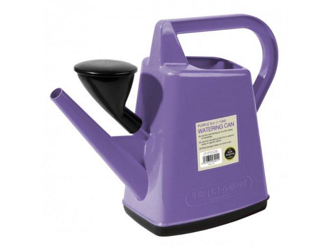 Plastová konev 5l Garland Design fialová