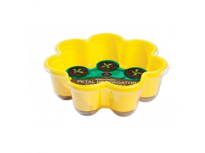 Garland - Miniskleník květina + 8 Jiffy zemní žlutý