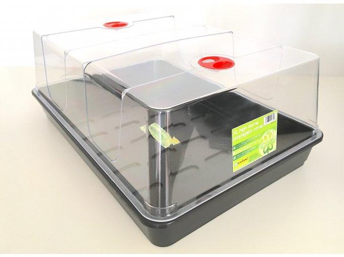 Garland - plastový miniskleník XL černá podmiska