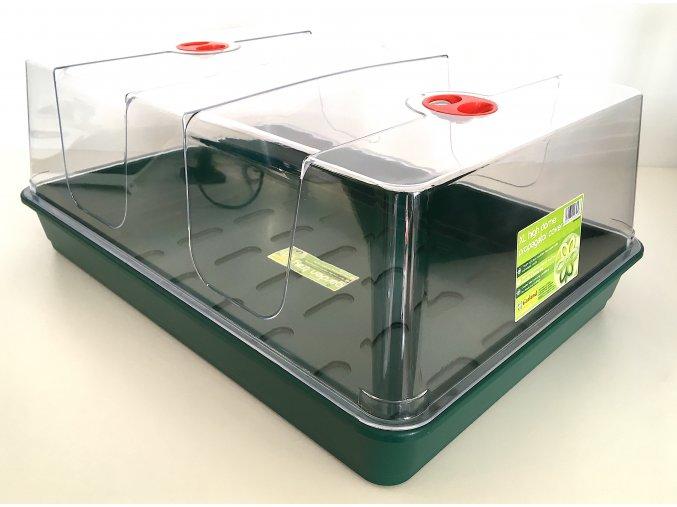 Garland - plastový miniskleník XL zelená podmiska