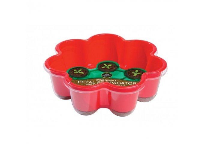 Garland - Miniskleník květina 8 Jiffy zemní červený