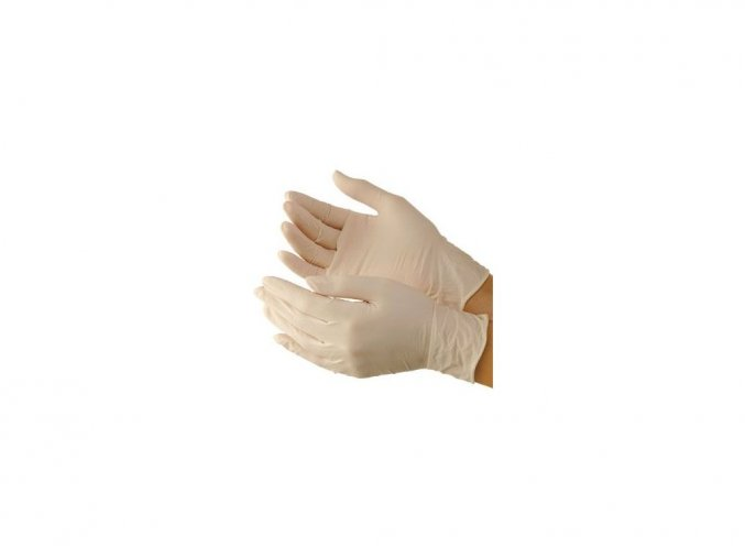 Latexové rukavice vel. M pár