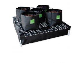 System#5 90x90cm, 200l nádrž, 5 květníků, vše složeno v krabici