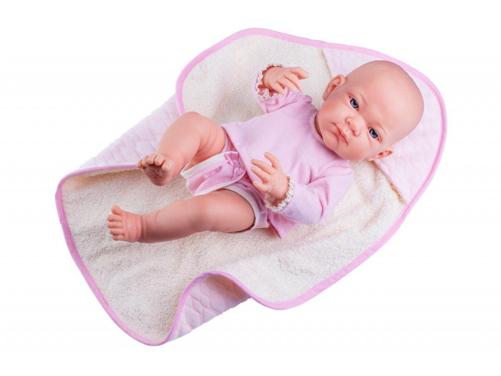 Pikolin dievčatko na uteráčiku - realistická bábika 36 cm