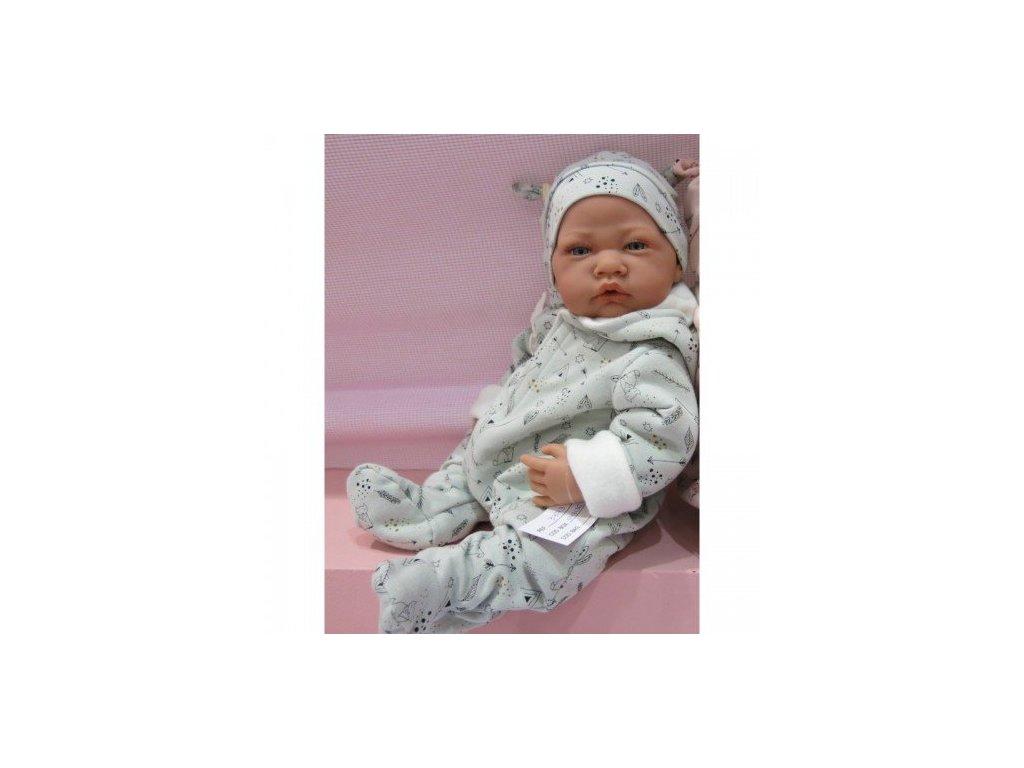 198 realisticke babatko chlapcek v kombineze 40 cm