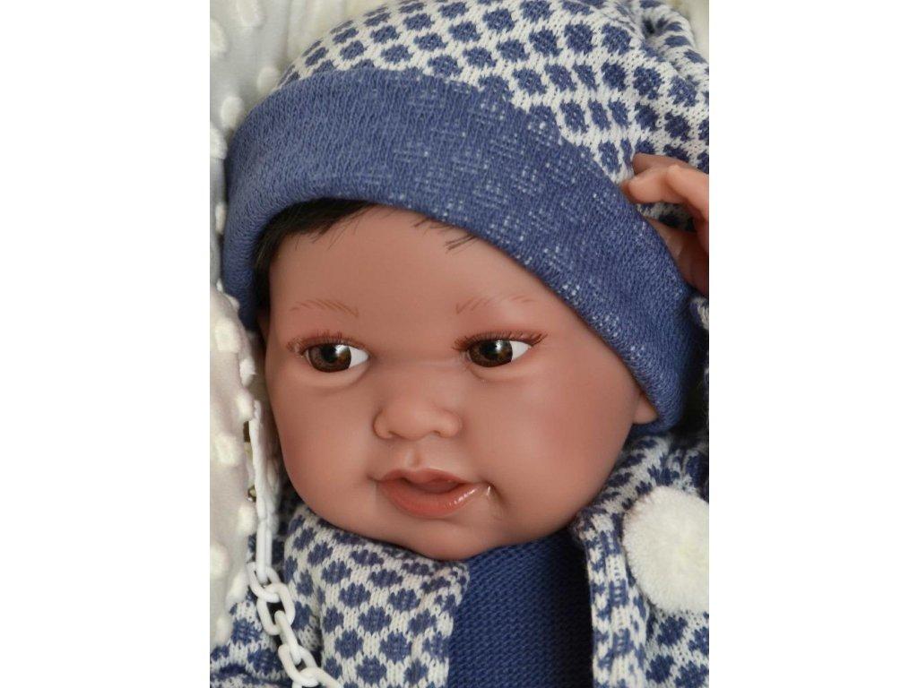 Realistické bábätko Recién Nacido Pipo chlapec Antonio Juan 42 cm