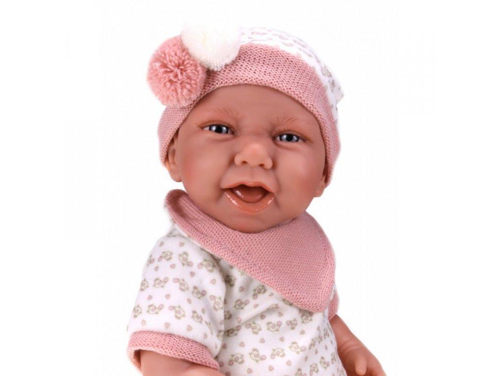 Realistická bábika Carla na dečke -  od firmy Antonio Juan 40 cm
