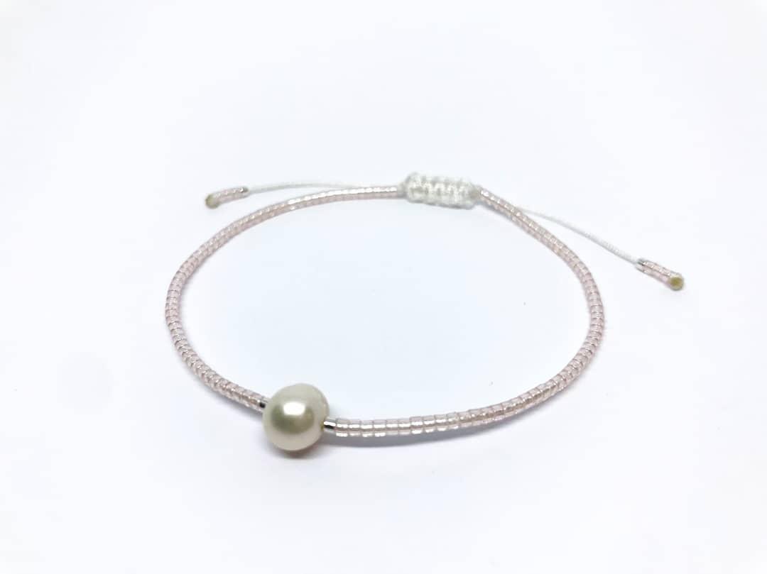 miyuki náramek s říční perlou