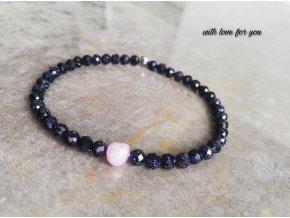 modrý avanturín s říční perlou