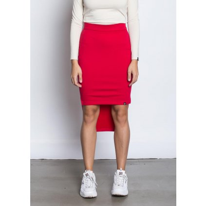 rbln long back skirt red