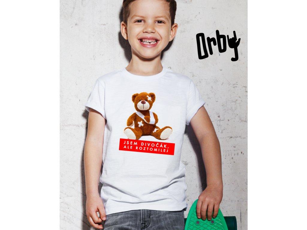 Chlapecké tričko s potiskem JSEM DIVOČÁ