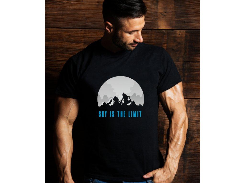 pánské tričko s potiskem SKY IS THE LIMIT