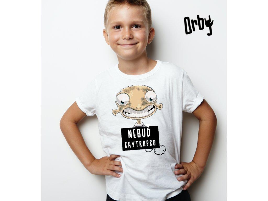 Dětské tričko s potiskem CHYTROPRD BODY