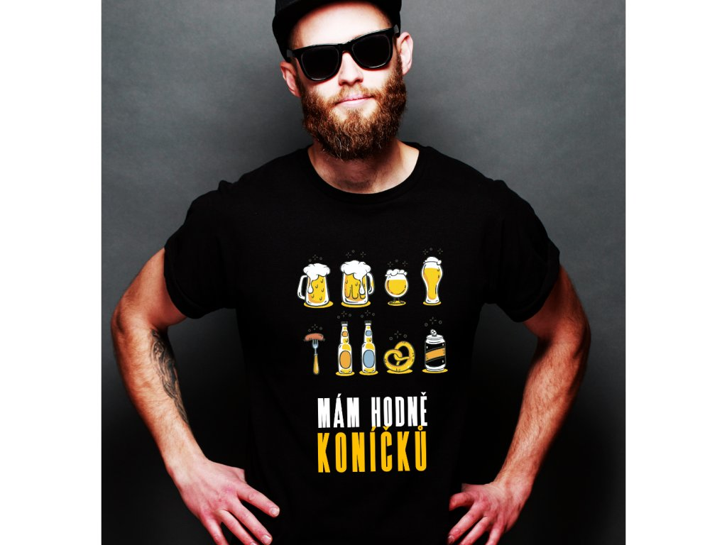 pánské tričko s krátkým rukávem BEER KONÍČKY
